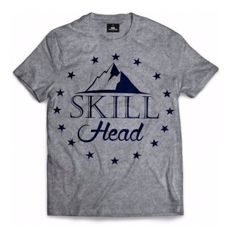 Camiseta Skill Head Mountain Preta/cinza