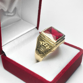 179d9cdf7e2f Anillo De Oro Con Piedra Roja Hombre - Joyas y Bijouterie en Mercado ...