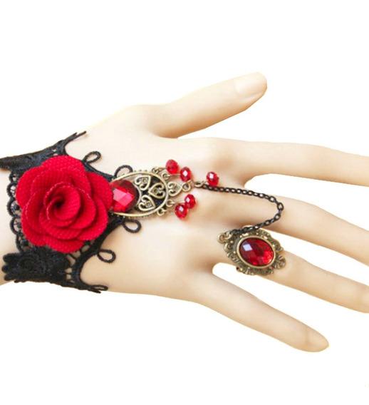 Anel Gótico Bracelete Pulseira Vitoriano Vintage Lolita