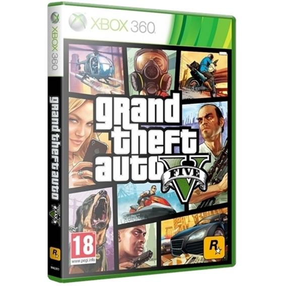 Jogo Grand Theft Auto V Gta 5 Xbox360 Midia Fisica Original