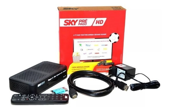 Sky Pré Pago Receptor Flex Hd + Habilitação Com Globo E Sbt