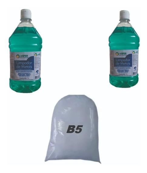 Kit Pó B5 Abrilhantador 1kg + 2 Shampoo Limpador 1l Joia