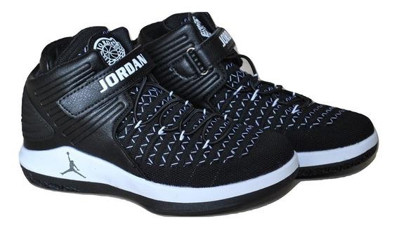 Kp3 Botas Niños Air Jordan 32 Negro / Blanco