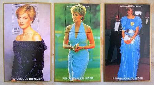 Niger, Serie 10 Bloques Pricesa Diana Vestidos Mint L10698
