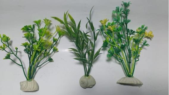 Planta Artificial Aquário 12 Cm 03 Unidades - Ref. 03