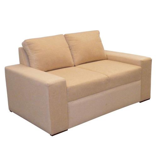 Imagen 1 de 2 de Sofa Chicago 3 Puestos Tela Beige