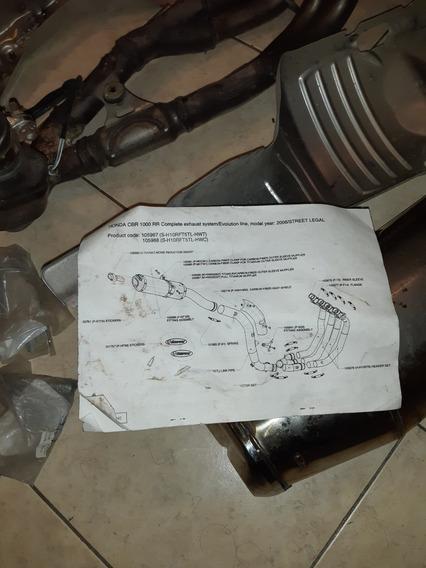 Escape Completo De Honda Cbr 1000rr Original