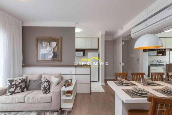 Apartamento Com 2 Dormitórios Para Alugar, 57 M² Por R$ 1.000/mês - Centro - Santa Bárbara D