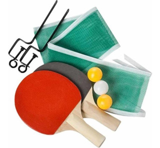 Set Ping Pong Kit 2 Paletas + Red Soporte + 3 Pelotas