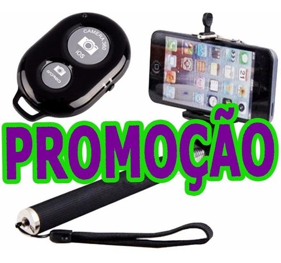 Pau Bastão Selfie Kit Monopod + Controle Bluetooth Celular.