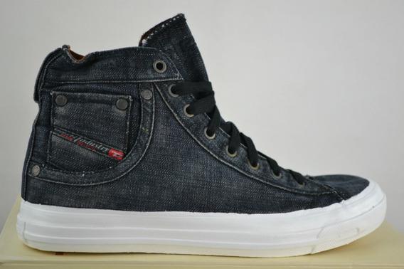 Diesel Zapatillas Denim Jeans Negro Blanco