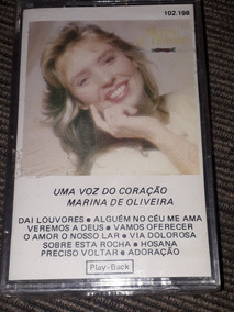 K7-playback Marina De Oliveira.uma Voz Do Coração.lacrado.