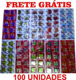 Kit Fusivel Lamina 100 Peças + Porta Fusível 10 Peças