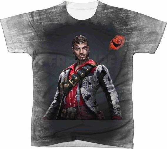 Camiseta Camisa Personalizada Free Fire Jogo Game Ref 07
