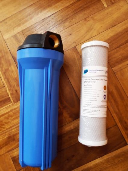 Carcasa Porta Filtro De Agua 3/4 + Carbón Activado Matrikx