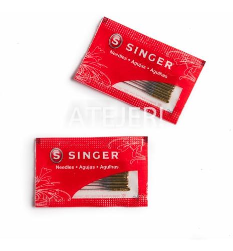 Agujas Singer 2045 Maq Familiar Punta Bolita  X Paquete