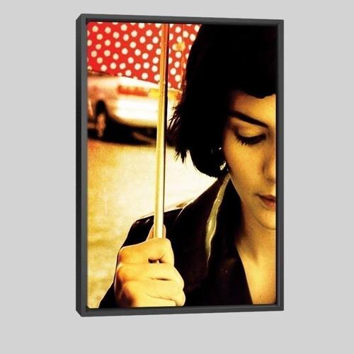 Quadro Filme Amelie Poulain Ii 95x63cm Moldura Preta