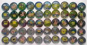 Elma Chips Coleção Completa Com 50 Metal Tazos Bob Esponja