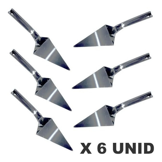 Pala Triangular Para Pizza Acero Inoxidable X 6 Unidades