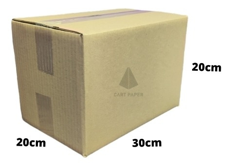 Imagen 1 de 3 de Cajas De Cartón 30x20x20 / Pack 25 Cajas / Cart Paper