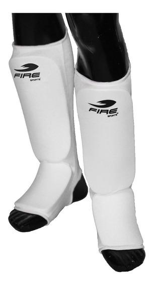 10 Pz Espinilleras Taekwondo Tipo Calceta Fire Sports