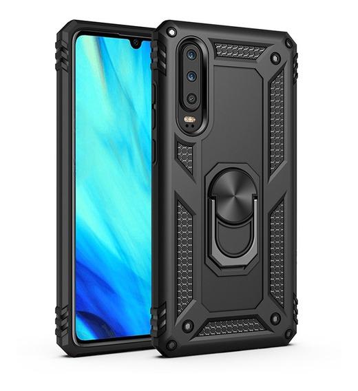 Funda Huawei Anillo Metal Uso Rudo + Mica 10d Premium Full