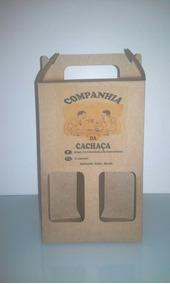 Caixas Em Kraft 420 Gr Para 02 Garrafas De 250ml Tipo Ice