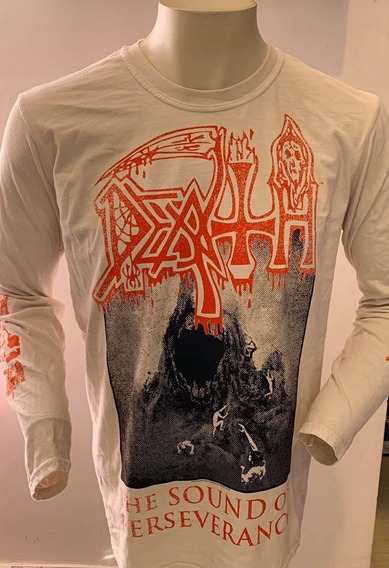 Death The Sound Of Persevarance (white) Long Sleeve T-shirt