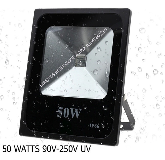 Refletor 50w Uv Ultra Violeta Dj Luz Negra
