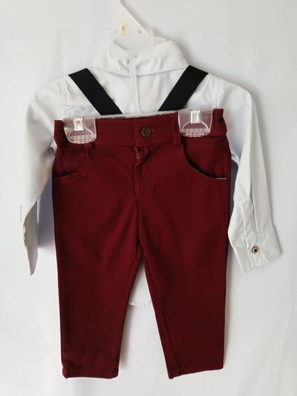 Conjunto De Pantalón, Camisa Y Tirantes Para Niño 1,2,3,4