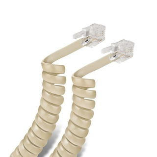 Cable Espiral Plug A Plug Rj9 De 4.5m Para Telefono 302-015