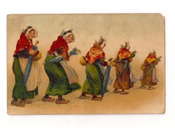 Rusia Antigua Tarjeta Postal Babushkas