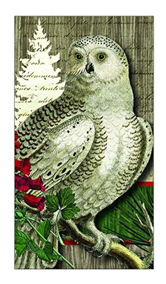 Paperproducts Design Winter Woods Owl Guest