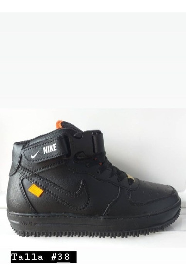 Botas Nike Air Force Negras Caballero