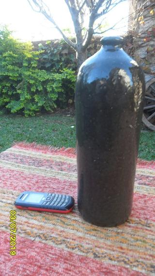 Antigua Botella Porron Cerámica Esmaltada Ginebra ? No Gress