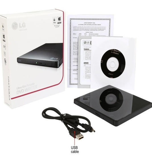 Unidad Externa Lg De Dvd, Ultra Slim Portable Gp65nb60