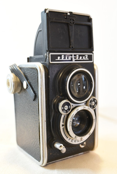 Câmera Antiga Vintage Ferrania Elioflex 2 Tlr Italiana