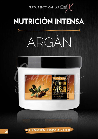 Nutrición Capilar De Argan Extra Hidratacion Ónix X 500 Grs