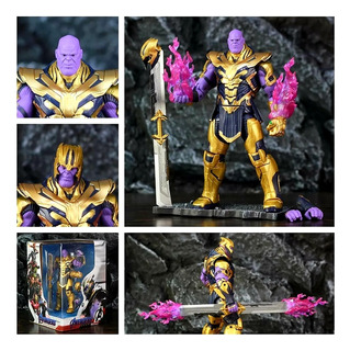 Thanos 20cm Articul,plataf. Y Efectos Avengers Simil