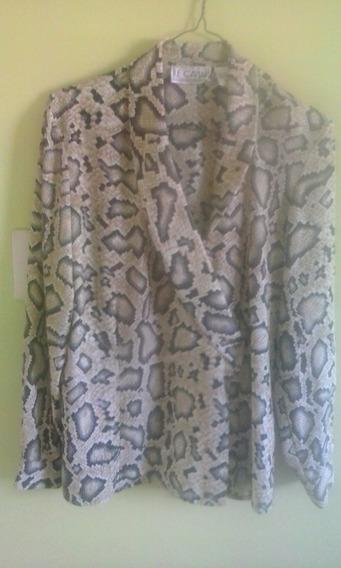 Camisa Animal Print Y 2 Blusas Negra Y Gris Dama Tallas Lym