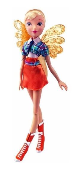 Boneca Winx Club Fairy School Stella 30 Cm Wxef001