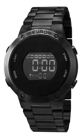 Relógio Euro Feminino Fashion Fit Eubj3279ab/4p Preto Digita