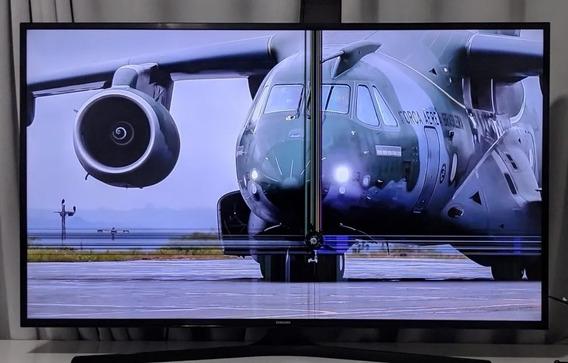 Tv Samsung 4k Smart 49 Pol. Com Defeito Na Tela, Funcionando