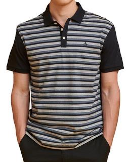 Chomba Hombre Penguin Rayada Texture Stripe Polo Jersey