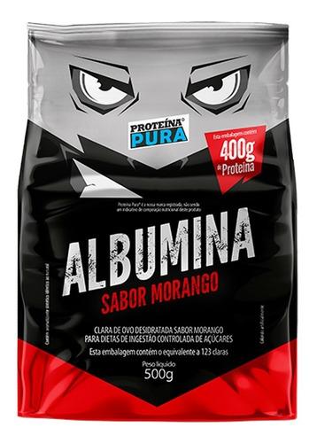 Imagem 1 de 2 de  Albumina - Sabor Morango - 500g - Proteina Pura