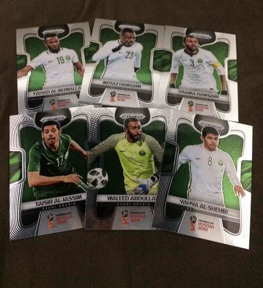 Cards Copa 2018 Panini Prizm (lote Arábia Saudita)