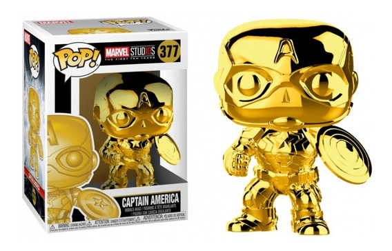 Figura Funko Pop Marvel Ms 10 - Captain America 377