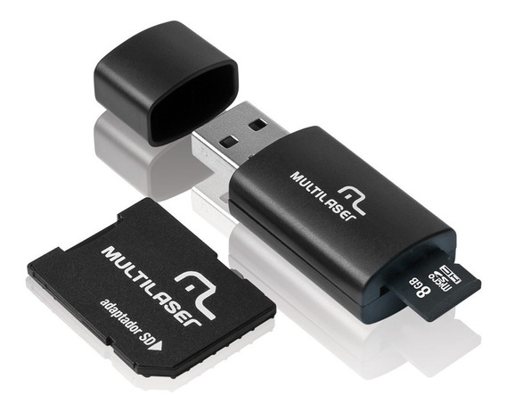 Cartão De Memória Microsd, Sd E Pendrive 8gb Multilaser