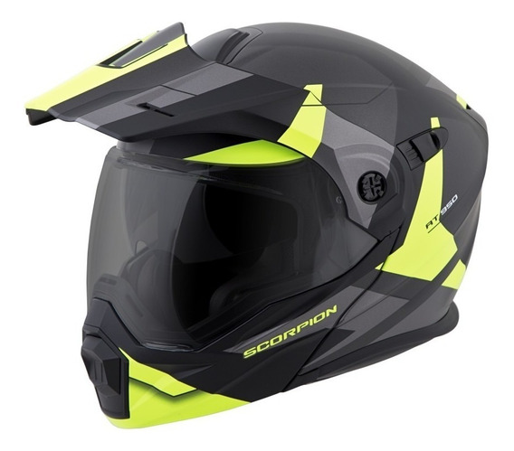 Casco Abatible Scorpion Exo At 950 Hi Viz Doble Proposito