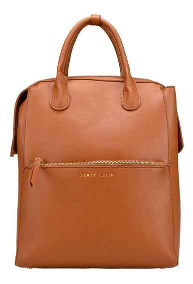 Bolsa Back Pack Marca Perry Ellis Ocre, A01944